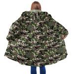 Green Forest Camo Mushroom Hooded Coat 3917