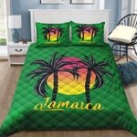 Ligerking™ Jamaica Coconut Tree Quilt Bedding Set HD03356