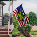 Ligerking™ Jamaica And America Flag HD03627