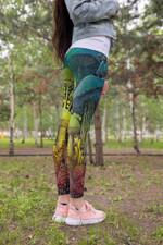 Full Color Forest Mushroom Leggings 3906