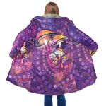 Purple Mushroom Hooded Coat 3915