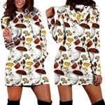 Forest Mushroom Hoodie Dress 3907