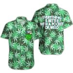 Ligerking™ 420  Weed Pocket Short Sleeve Shirt  HD03442