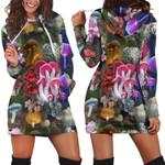 Beautiful Forest Mushroom Hoodie Dress 3912