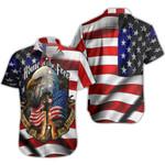 Ligerking™ Eagle Usa Flag Shirt Short Sleeve HD02548