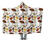 Forest Mushroom Hooded Blanket 3907