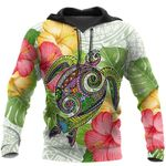 Ligerking™ Polynesian Colorful Turtle Hoodie 3D All Over Print HD05004