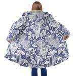 Purple Mushroom Hooded Coat 3908