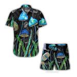 Ligerking™ Mushroom Short Sleeve Shirt, Beach Shorts HD04729