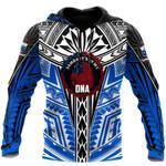 Ligerking™ Polynesian Blue Samoa In Heart Tattoo Hoodie 3D All Over Print HD04998