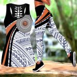 Ligerking™Polynesian Micronesia Black Brown Tank Top, Leggings 3D All Over Print HD04994