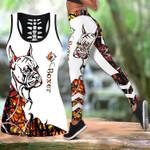 Ligerking™ Orange Boxer Tattoos Tank Top, Leggings 3D All Over Print HD05352