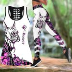 Ligerking™ Pink Boxer Tattoos Tank Top, Leggings 3D All Over Print HD05350