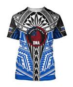 Ligerking™ Polynesian Blue Samoa Tattoo Hoodie 3D all over print HD04859