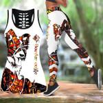 Ligerking™ Orange Collie Tattoos Tank Top, Leggings 3D All Over Print HD05337