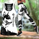 Ligerking™ Black Bull Terrier Tattoos Tank Top, Leggings 3D All Over Print HD05364