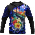 Ligerking™ Polynesian Kanaka Maoli Whale with Flowers Hoodie 3D all over print HD04988