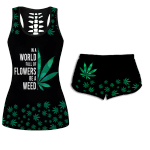 Ligerking™ 420 Weed Tank Top, Shorts 3D All Over Print HD04881