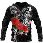 Ligerking™ Amazing Humpback Whale with Hibiscus Hoodie 3D all over print HD04850