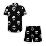 Ligerking™ Skull Short Sleeve Shirt, Beach Shorts HD04619