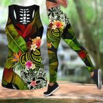 Ligerking™Polynesian Black Amazing Turtle Tank Top, Leggings 3D All Over Print HD05003