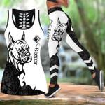 Ligerking™ Black Boxer Tattoos Tank Top, Leggings 3D All Over Print HD05348