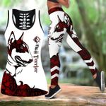 Ligerking™ Red Bull Terrier Tattoos Tank Top, Leggings 3D All Over Print HD05363