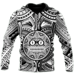 Ligerking™ Polynesian Black And White Hoodie 3D all over print HD04997