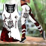 Ligerking™ Red Boxer Tattoos Tank Top, Leggings 3D All Over Print HD05347