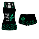Ligerking™ 420 Weed Tank Top, Shorts 3D All Over Print HD04880