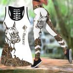 Ligerking™ Brown Boxer Tattoos Tank Top, Leggings 3D All Over Print HD05349