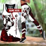 Ligerking™ Red Staffordshire Bull Terrier Tattoos Tank Top, Leggings 3D All Over Print HD05365