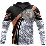 Ligerking™ Polynesian Micronesia Handicraft Black Brown Hoodie 3D all over print HD04994