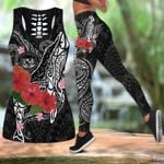 Ligerking™ Amazing Humpback Whale with Hibiscus Tank Top Leggings 3D All Over Print HD04850