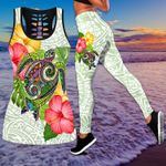 Ligerking™Polynesian Colorful Turtle Tank Top, Leggings 3D All Over Print HD05004