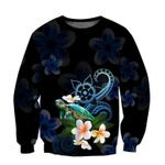 Ligerking™ Polynesian Turtle With Plumeria Flowers Hoodie 3D all over print HD04871