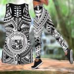 Ligerking™ Polynesian Hawaii Tank Top, Leggings 3D All Over Print HD05008