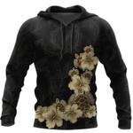 Ligerking™ Polynesian Black Turtle Hibicus Hoodie 3D all over print HD04996