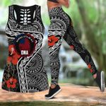 Ligerking™ Polynesian Samoa Tattoo Tank Top Leggings 3D All Over Print HD04845