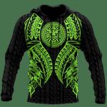 Ligerking™ Polynesian Green Tattoo Hoodie 3D all over print HD04843