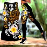 Ligerking™ Polynesian Tattoo Turtle Tank Top Leggings HD04839