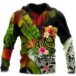 Ligerking™ Polynesian Black Amazing Turtle Hoodie 3D All Over Print HD05003