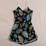 Ligerking™ Forest Leaves Blue and Gold Jumpsuit HD05721