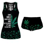 Ligerking™ 420 Weed Tank Top, Shorts 3D All Over Print HD04764