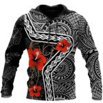 Ligerking™ Polynesian Tattoo Turtle Hoodie  3D all over print HD04841