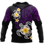 Ligerking™ Polynesian Tattoo Purple Turtle Hoodie 3D all over print HD04984