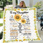 Ligerking™ To My Daughter Quilt Blanket HD05629