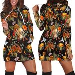 Ligerking™ Butterfly Mushroom Hoodie Dress HD05353