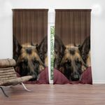 Ligerking™ German Shepherd Dog 3D Window Curtains HD05639