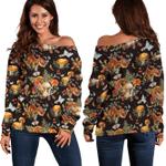 Ligerking™ Butterfly Mushroom Off-shoulder Women Sweatshirt HD05353